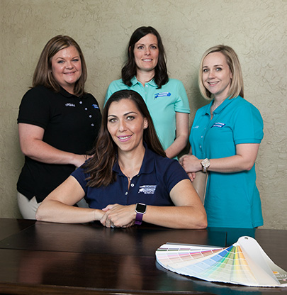 Fort Worth customer care team at Platinum Painting