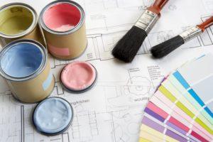 color wheel paint floor plan