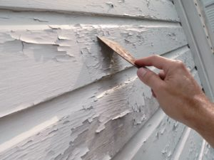 scraping off chipping paint